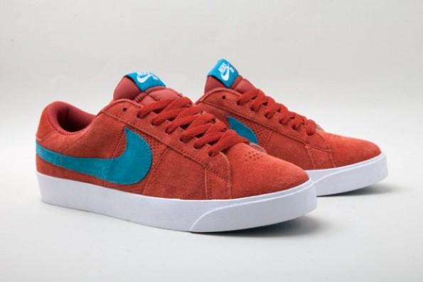 Nike SB Blazer Low – Terracotta / Teal
