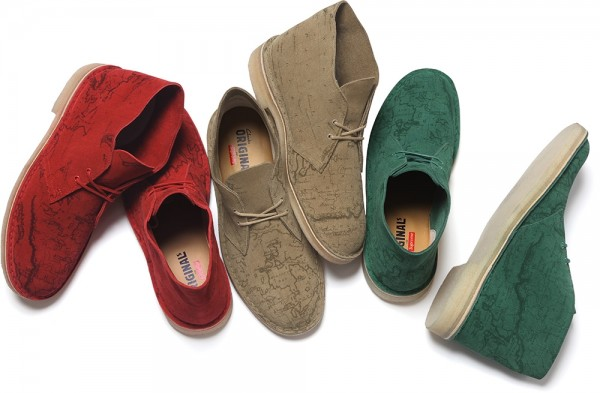 Supreme × Clarks Originals 'Map Suede' Desert Boot Collection