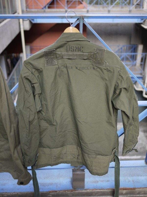 "60′s ~ 70's ""US Army"" Jungle Fatigue Jacket Cotton Poplin Rip Stop 4th 002"