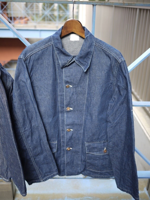 40's WW2 U.S. ARMY M-41 DENIM COVERALL JACKET