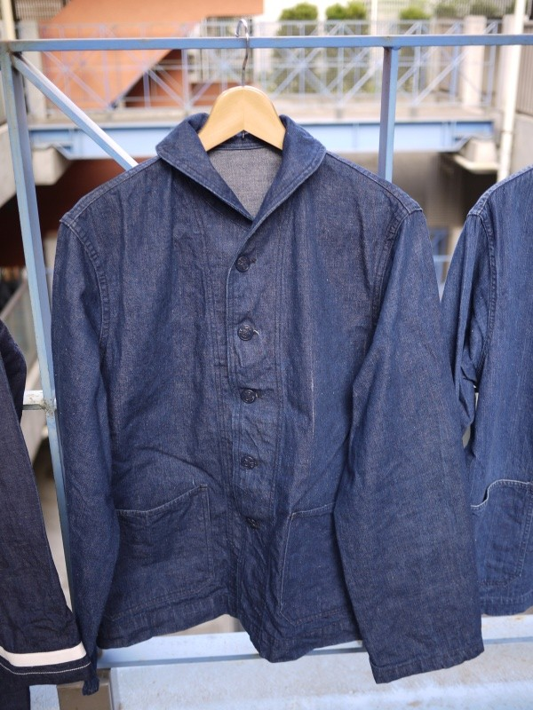 40's U.S. NAVY SHAWL COLLAR DENIM COVERALL 001
