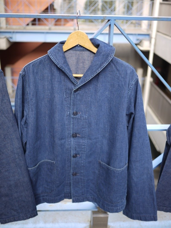 40's U.S. NAVY SHAWL COLLAR DENIM COVERALL 002