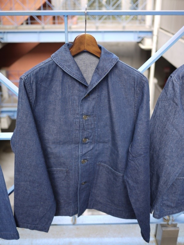 40's U.S. NAVY SHAWL COLLAR DENIM COVERALL 003