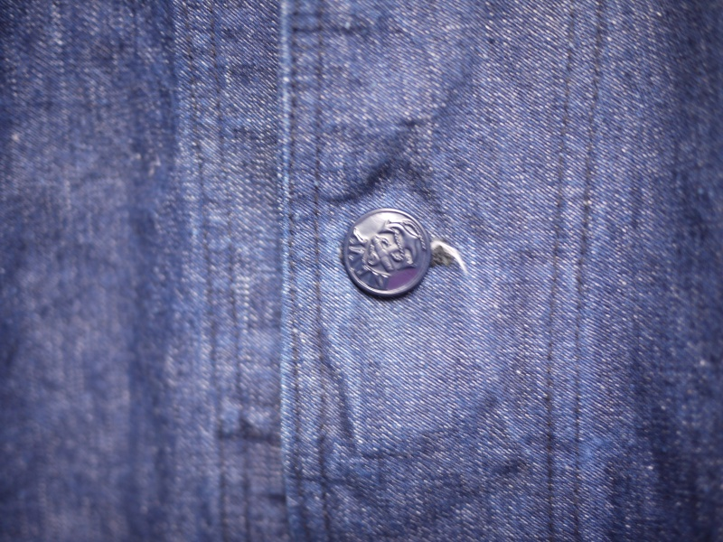 40's U.S. NAVY SHAWL COLLAR DENIM COVERALL 004