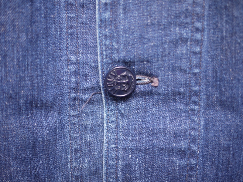 40's U.S. NAVY SHAWL COLLAR DENIM COVERALL 005
