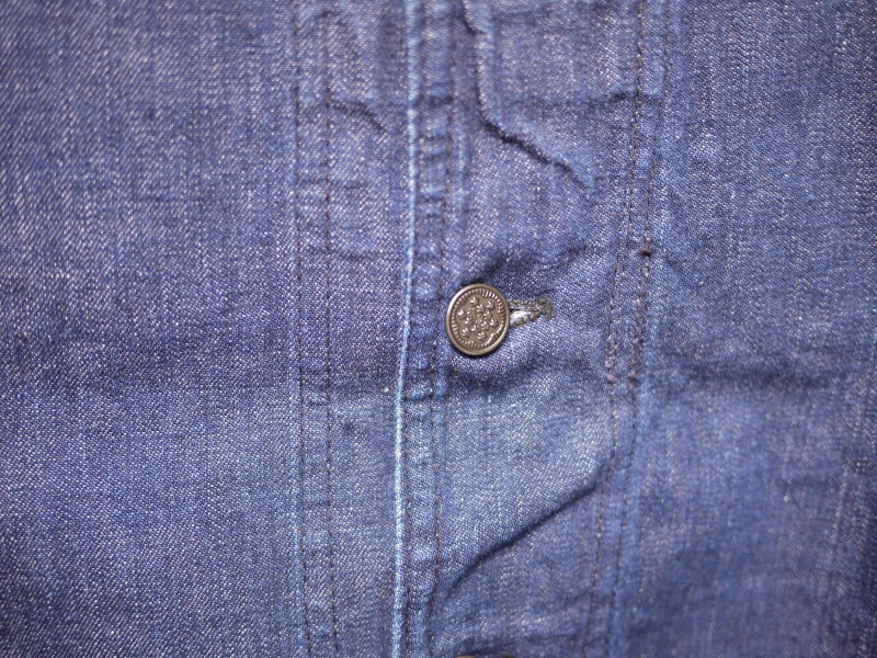 40's U.S. NAVY SHAWL COLLAR DENIM COVERALL 006