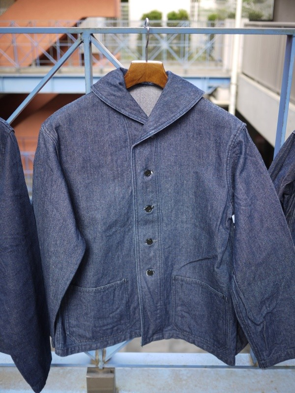 40's U.S. NAVY SHAWL COLLAR DENIM COVERALL 007
