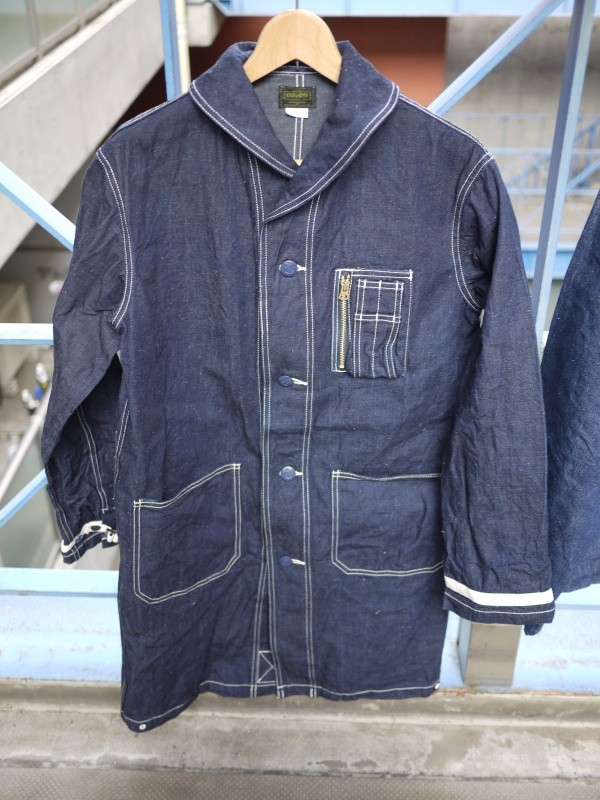 GODWIND 40's U.S. NAVY SHAWL COLLAR DENIM COVERALL CUSTOM